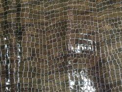 peau cuir de vache façon crocodile naturel taupe maroquinerie ameublement cuir en stock