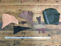 morceaux de cuir épais colorés maroquinerie accessoire Cuir en Stock