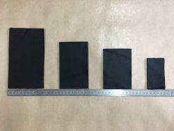 morceaux de cuir de vachette noir Cuir en Stock