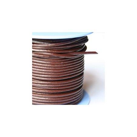Lacet brun 1mm