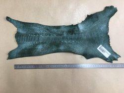 morceau peau de patte d'autruche vert forêt mat maroquinerie accessoire luxe exotique Cuirenstock
