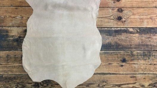 Croute de cuir porc velours beige cuir en stock