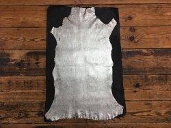 peau de cuir d'agneau stretch métallisé or Cuir en stock