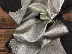 peau de cuir d'agneau stretch métallisé or gold cuirenstock