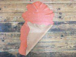 peau de cuir de mouton satiné orange cuirenstock