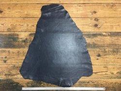 peau de cuir de mouton satiné bleu marine cuir en stock