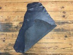 peau de cuir de mouton satiné bleu marine cuirenstock