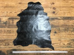 peau de cuir de mouton grain soviético noir glacé fantaisie cuir en stock