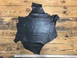 peau de cuir de mouton noir satiné maroquinerie cuirenstock