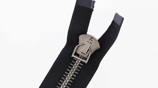 fermeture Eclair® haut de gamme pro excella ykk noire zip métal séparable 35cm cuir en stock cuir