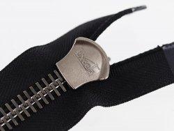fermeture Eclair® haut de gamme pro excella ykk noire zip métal séparable 35cm Cuirenstock cuir