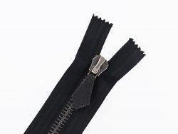 fermeture éclair noire métal riri-m8 non divisible 36cm cuir en stock couture cuir