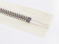 fermeture glissière blanc casse zip métal argente riri mayer m8 20cm cuir Cuir en Stock non divisible