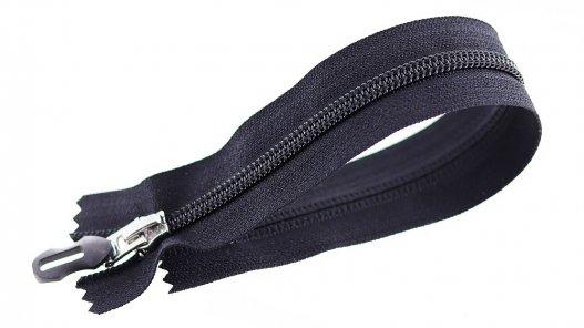 fermeture-glissiere-noire-argente-zip-metal-tirette-plastique-24cm-cuirenstock