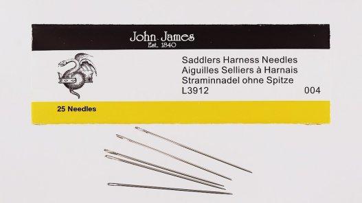 lot de 5 aiguilles bout rond couture sellier cuir John James cuirenstock