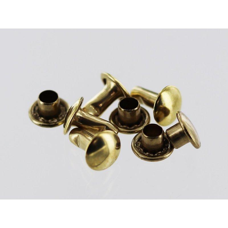 lot rivets double calotte laiton accessoire maroquinerie cuir en stock