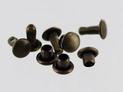 lot rivet acier bronze vieilli accessoire maroquinerie cuir en stock