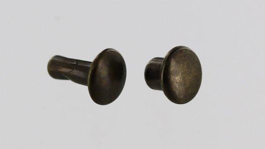 lot rivet acier bronze vieilli accessoire maroquinerie cuirenstock