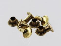 lot de rivet double calotte laiton accessoire maroquinerie cuir en stock