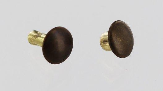 lot de rivets acier bronze vieilli double calotte accessoire maroquinerie cuirenstock