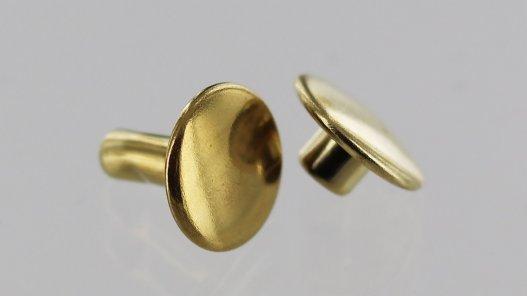 lot rivets double calotte acier laiton accessoire maroquinerie cuirenstock