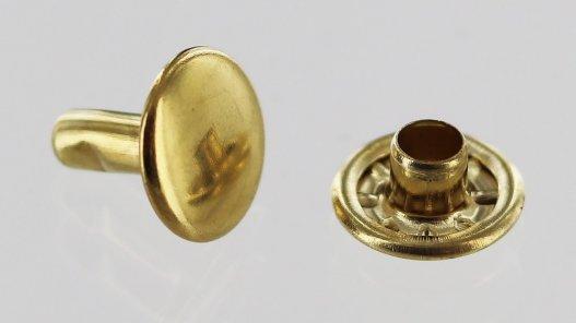 lot rivets double calotte acier laiton accessoire maroquinerie Cuir en Stock