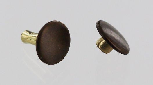 lot rivets double calotte acier bronze accessoire maroquinerie cuirenstock