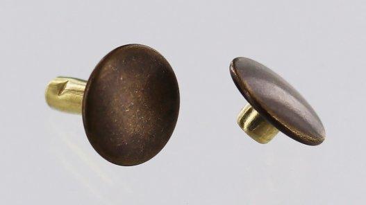 lot rivets double calotte acier bronze vieilli accessoire maroquinerie cuirenstock