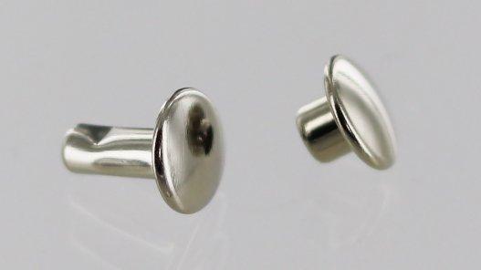 lot rivets double calotte acier nickelé accessoire maroquinerie cuirenstock