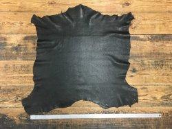 peau de cuir de chèvre grain chagrin noir cuir en stock
