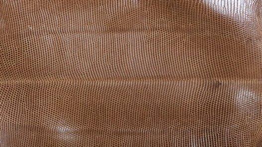peau de cuir de lézard caramel accessoire bijoux Cuirenstock
