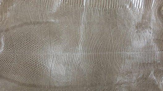 peau de cuir de lézard beige accessoire bijoux Cuirenstock