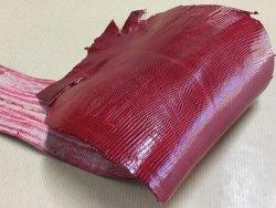peau de cuir de lézard rouge accessoire bijoux cuir en stock