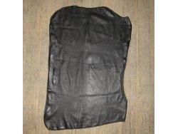 peau agneau stretch noir cuir en stock vêtement