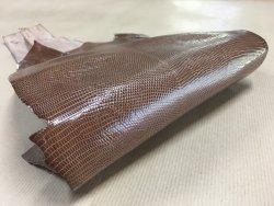 peau cuir lézard taupe accessoire bijoux cuir en stock
