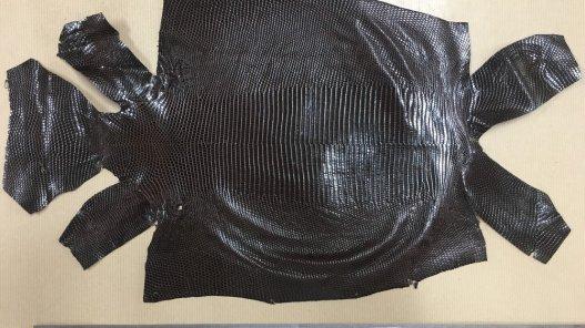 peau de cuir lézard marron accessoire bijoux cuirenstock