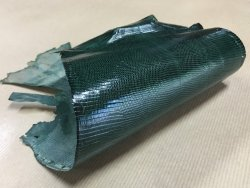 peau cuir lézard vert accessoire bijoux cuir en stock