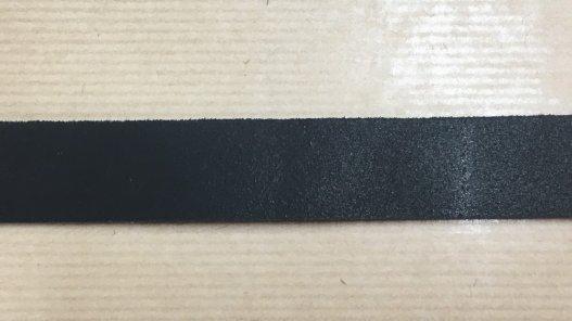 bande sangle de cuir tannage pur végétal noir Cuir en Stock