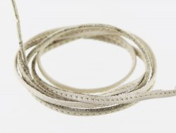 lanière de cuir surpiqué blanc ivoire lacet sangle cuir en stock