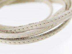 lanière de cuir surpiqué blanc ivoire lacet sangle Cuirenstock