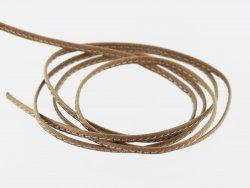 Fine lanière lacet sangle de cuir beige surpiqué cuir en stock