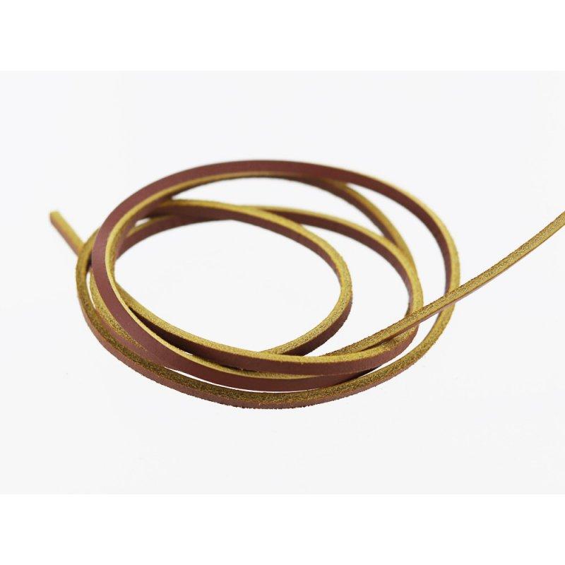 lanière lacet sangle de cuir brun jaune cuir en stock