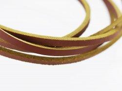 lanière lacet sangle de cuir brun jaune Cuirenstock