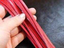 lanières en cuir rouge cuirenstock