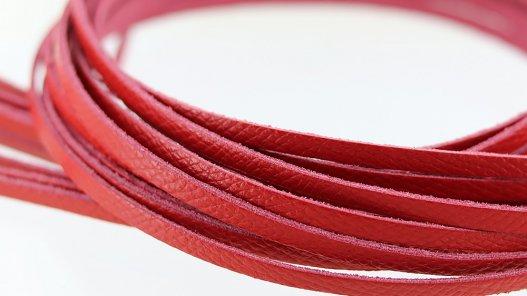lot 12 lanières en cuir de vache rouge