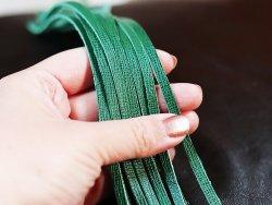 lanières lacets de cuir vert cuirenstock