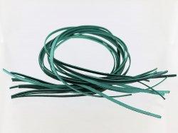 Lacet cuir vert maroquinerie et bijoux en cuir