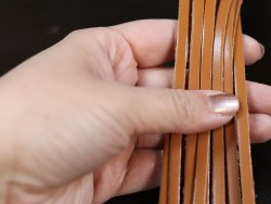 vente lanières lacets en cuir de qualité couleur fauve