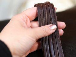 lanières lacets en cuir cuirenstock marron brun