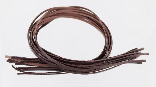lacets en cuir lanières Cuir en Stock couleur naturelle brun